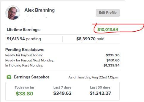 ClickFunnels affiliate earnings $10k